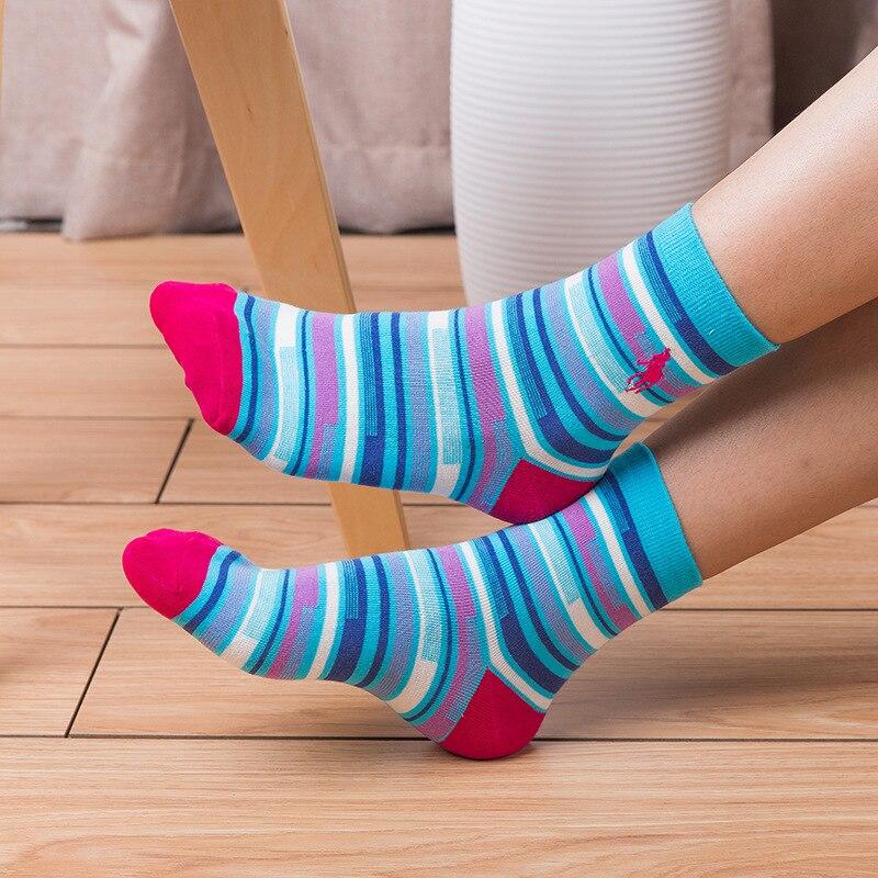 2018 Новый рождественский Носки Pier поло в полоску трубки вышитые носки Для женщин модные повседневные коттоновые носки подарки для Для женщи...