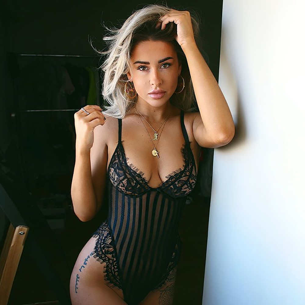 2019 Mode Cinoon Neue Sexy Body Frauen Perspektive Aushöhlen Overall Spitze Mesh Overall Backless Strap Dünne Bequeme Strampler Dinge FüR Die Menschen Bequem Machen