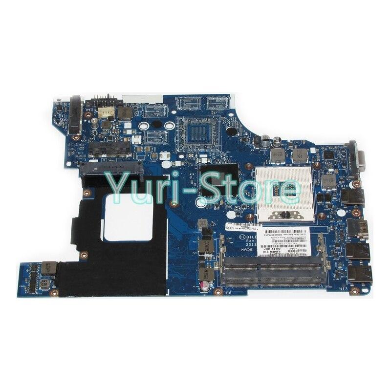 NOKOTION For Lenovo E530 Laptop 04W4014 Main Board System Board QILE2 LA-8133P DDR3 100%test 815248 501 main board for hp 15 ac 15 ac505tu sr29h laptop motherboard abq52 la c811p uma celeron n3050 cpu 1 6 ghz ddr3