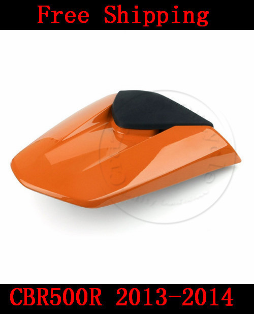 For Honda CBR500R 2013-2014 motorbike seat cover CBR 500 R  Brand New Motorcycle Orange fairing rear sear cowl cover for honda cbr600rr 2007 2008 2009 2010 2011 2012 motorbike seat cover cbr 600 rr motorcycle red fairing rear sear cowl cover