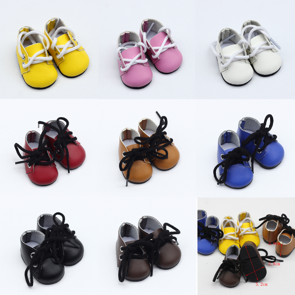 5*2.8CM PU Leather Mini Toy Shoes For EXO Dolls Fit For 14.5 Inch Doll As For BJD Accessories Girl Dolls Gift Toys