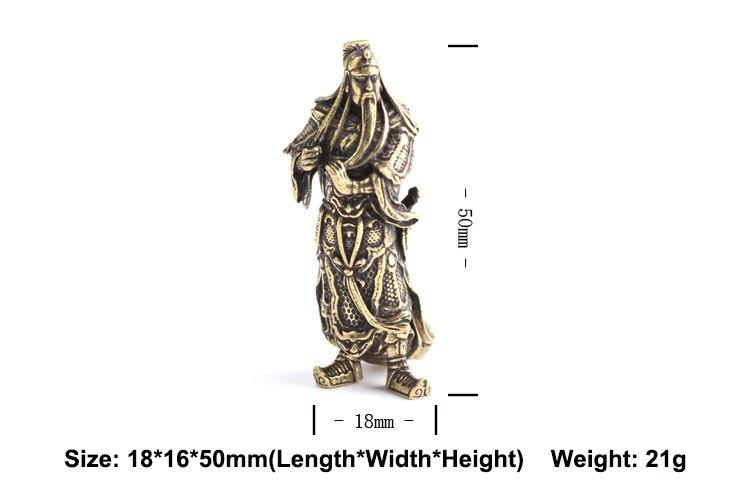 Guan Gong Statue Keychain Pendants  (1)