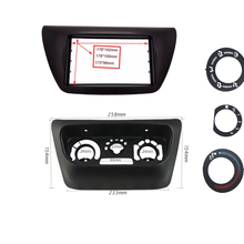 2 Дин Радио панель Фризовая подходит для Mitsubishi Lancer IX 2006 переходная DVD рамки + центр AC чехол для пульта отделкой ободок установить комплект