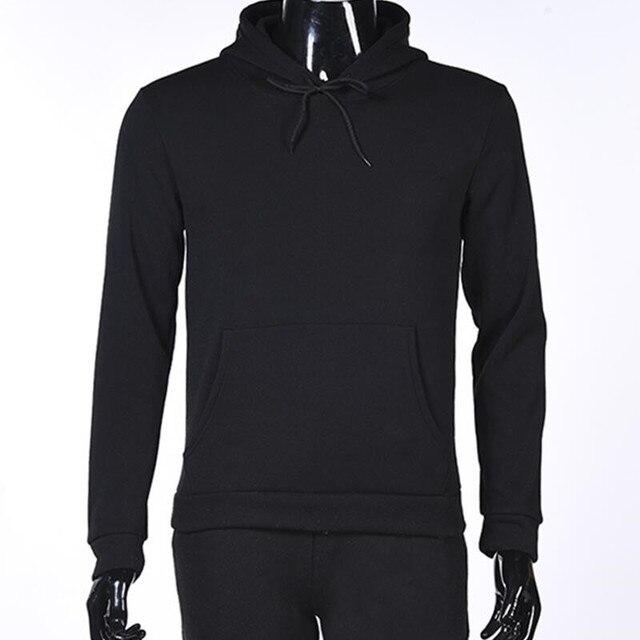 2017 Autumn New YGYKE Brand Male hoodies Pure Color Blank Male Black BLUE Dark  grey red Sweatshirt Hip-Hop Hoodie 0578beefd