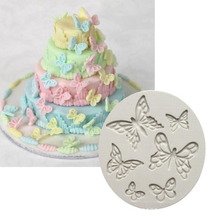 цена на 3D Cake Fondant Tools Chocolate Cookie Shaped Baking Mold Butterfly Silicone Mould Decor Home Cake Sugar New
