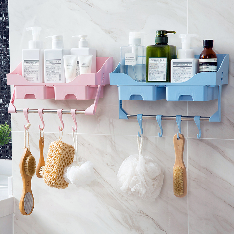 Drawer style wall accessory racks toilet Wall-mounted shelves bathroom hanger Storage rack