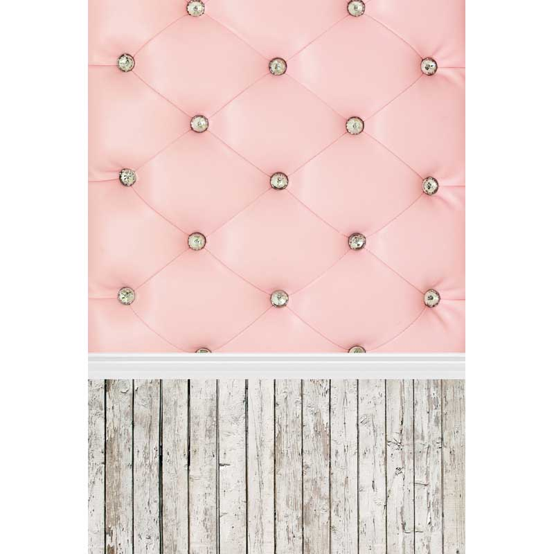 Pink headboard photography background vinyl cloth print photographic backdrops for photo studio portrait props F-301