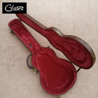 New Style High Quality Custom LP Standard Electric Guitar Case Brown Leather Hard Case With Red