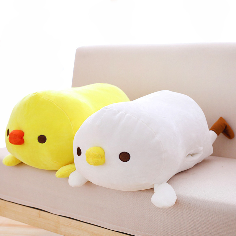 1pc 60cm cute down cotton yellow chicken hand warmer plush toys stuffed soft cartoon animal dolls for children baby winter gift
