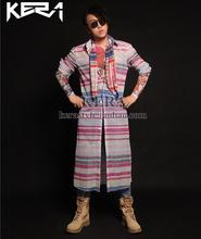 Hot Men new Colorful glitter lengthy sample Fashion free shirt, proper Zhilong identical type males's DJ singer DS costumes S-5XL