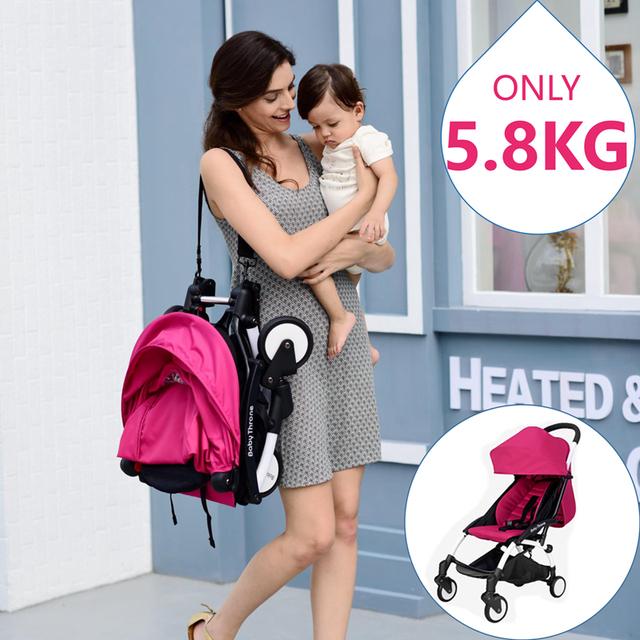 2016 Moda de Luxo Carrinho de Bebé Carrinho de Bebê Moda Hotmom Carro Guarda-chuva para o Bebê Sentado Viajar Frete Grátis