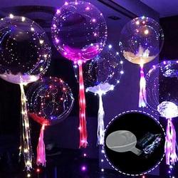 1 pcs new criativo Led Luminoso Balão Colorido Bolha Redonda Transparente Balões Brilham no escuro Brinquedos Presente