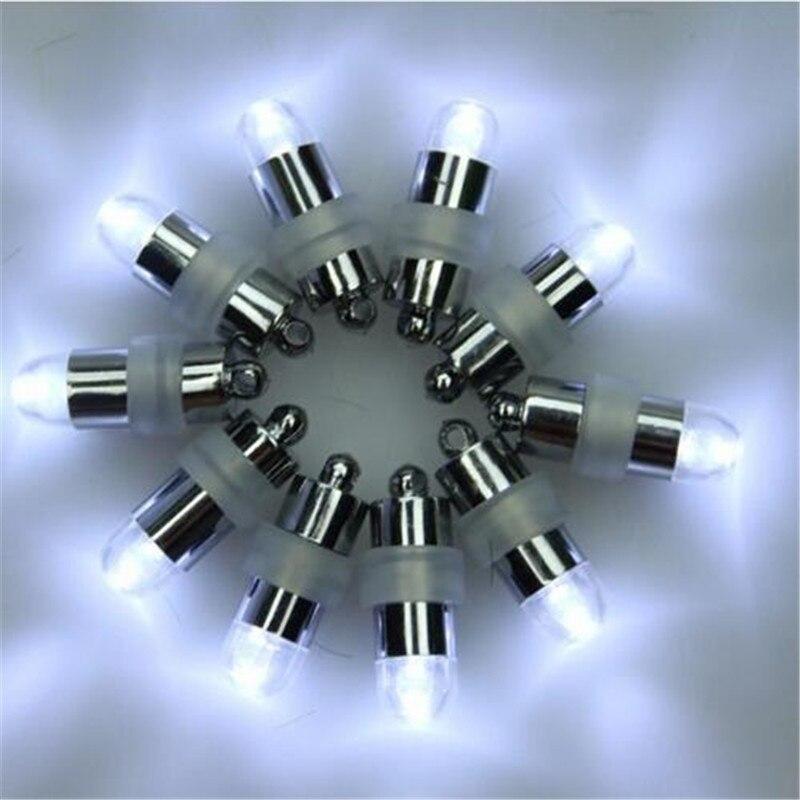 100 pcs/lot LED à piles ballon lumières + 100 pcs/lot papier lanternes de mariage décoration de fête - 3