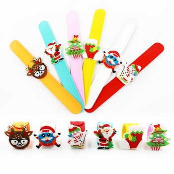 New Christmas Patting Clap Circle Bracelet Party Wrist Decor Watch Santa Claus Snowman New Year Xmas Children Gift Toy image