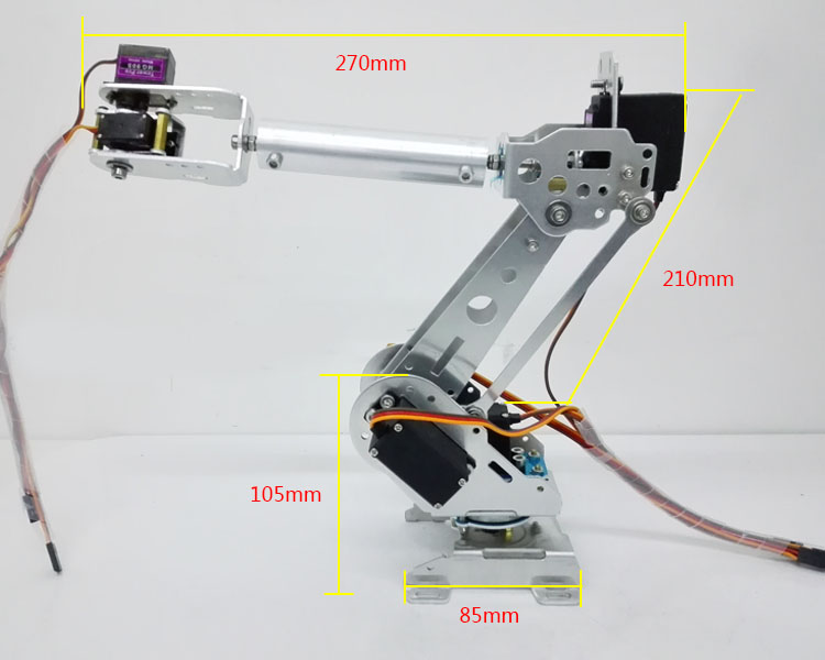 DLT699 Robot Arm 6-Axis 6 Dof Manipulator Industrial Educational Robot Arm + 6 Servos intelligent force and position control of 6 dof robot manipulator