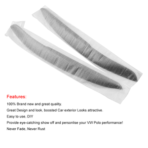 Image 4 - Car Headlight Eyebrow Eyelids Sticker Cover Trim Accessories Car Styling for Volkswagen VW Polo MK5 2011 2017
