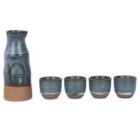 Janpanese Pela Saúde Pote Definir Envidraçada Ingênuo Conjunto Sake Sake Porcelana Artesanal de Cerâmica Pintados À Mão Cerâmica Copo Copo de Vinho