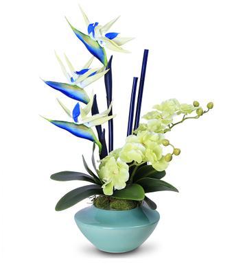2297 Orquídeas De Alta Calidad Strelittia Reginae Elegante Azul Real Toque Artificial Putouch Flor Arreglo Diy Organizar Flores In Flores