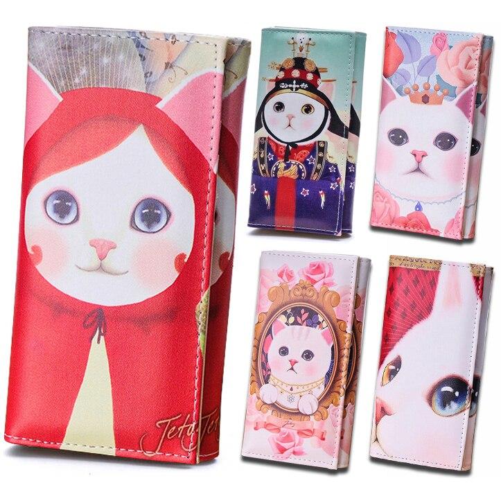 Women Wallets Brand Design Cat Pattern Lady Purses Cards Holder Coin Purse Handbags Money Bags Clutch Female Wallet Girls Burse стоимость