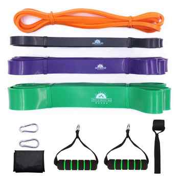 Pull Up Assist Resistance Bands Set Heavy Duty Power lifting Stretch Expander Bands Fitness Gym Workout Training Equipment - DISCOUNT ITEM  23% OFF All Category