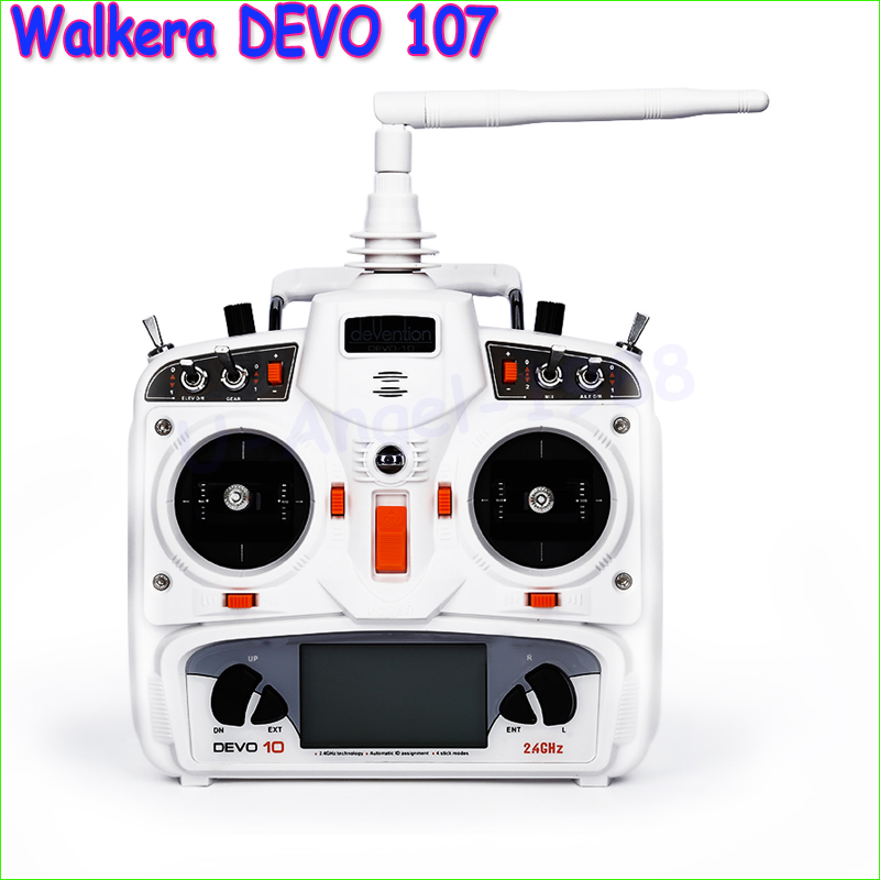 1pcs New Walkera DEVO 10 10CH 2.4Ghz Telemetry Function Radio transmitter System + RX1002 Receiver free shipping original walkera devo f12e fpv 12ch rc transimitter 5 8g 32ch telemetry with lcd screen for walkera tali h500 muticopter drone