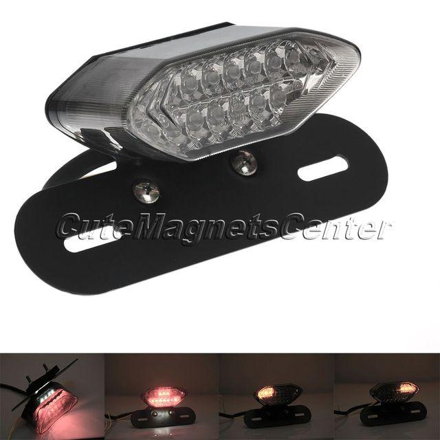 1 Unid Universal de La Motocicleta Freno de la Cola Luz Portátil LED de la Parada de la Señal de Vuelta Blinkers Integrado Lámpara De Humo rojo/ámbar/LED de Color blanco