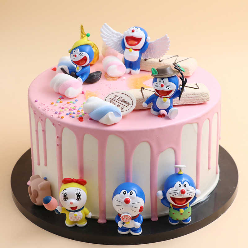 6 Pcs Set Doraemon Mini Lucu Angka Lucu Terbang Doraemon Dorami Pvc Puncak Kue Gambar Dekorasi Supplie Aliexpress