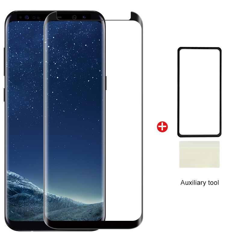 Full Glue Cover Tempered Glass For Samsung Galaxy S9 S8 Plus Note 9 8 Curved Glass Screen Protector With Auxiliary Tool