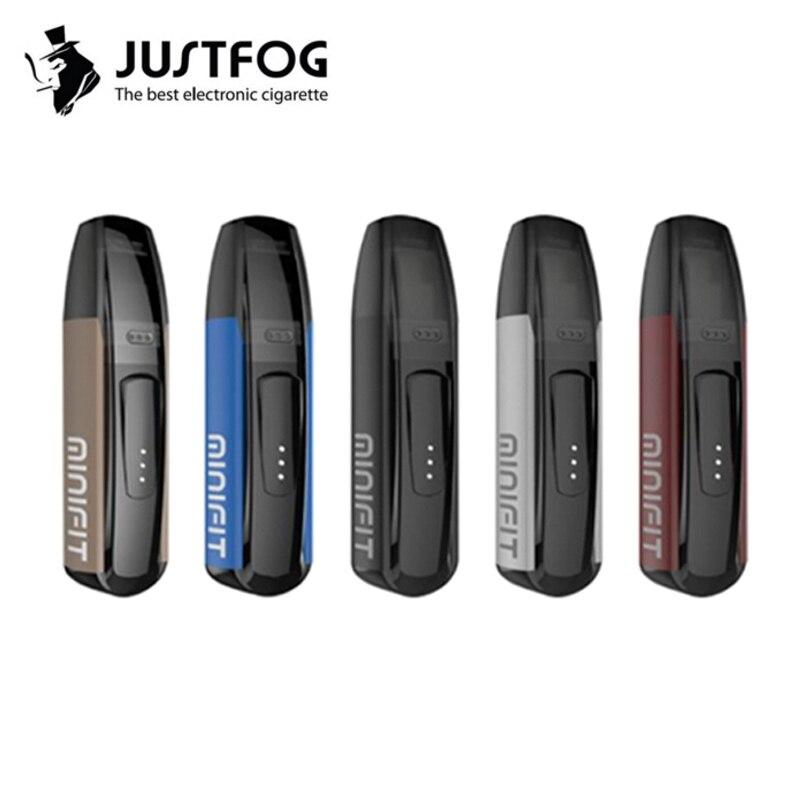 D'origine JUSTFOG MINIFIT Starter Kit 370 mah tout en un vaporisateur stylo kit pk brise kit avec MINIFIT 1.5 ml pod cartouche