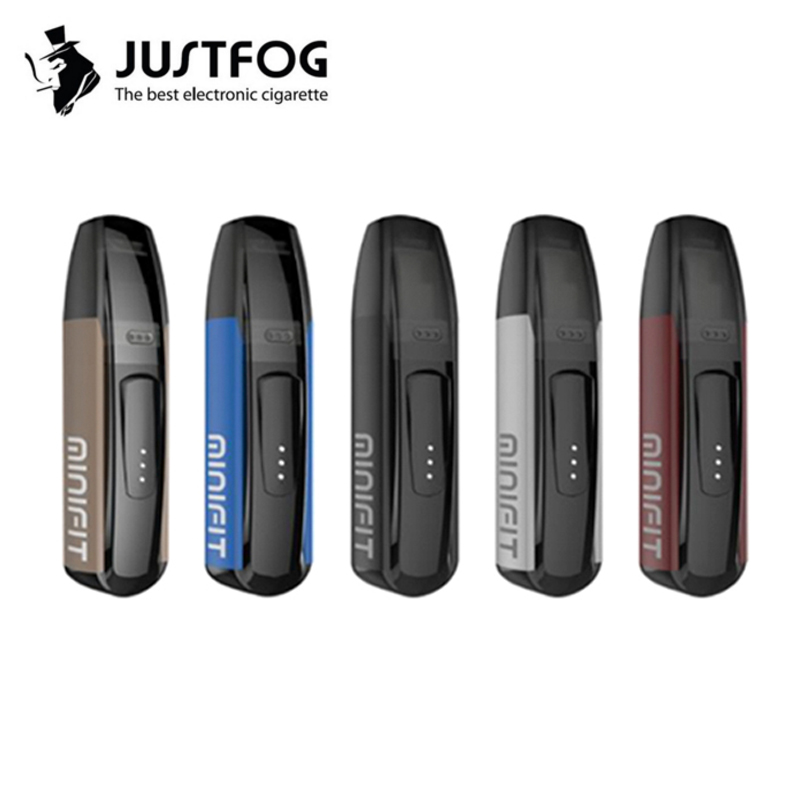 Original JUSTFOG MINIFIT Starter Kit 370mAh All In One Vape Pen Kit Pk Breeze Kit With MINIFIT 1.5ml Pod Cartridge