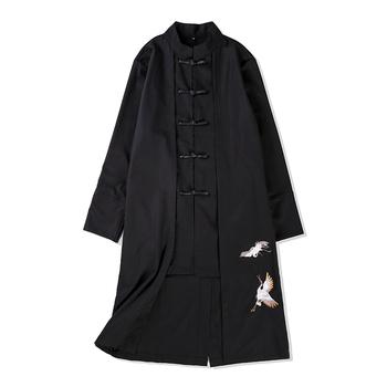 Tradycyjna chińska odzież dla mężczyzn mężczyzna płaszcz odzież wierzchnia orientalne zimowy płaszcz trencz mężczyźni trenchcoat ubrania tanie i dobre opinie Topy Pościel