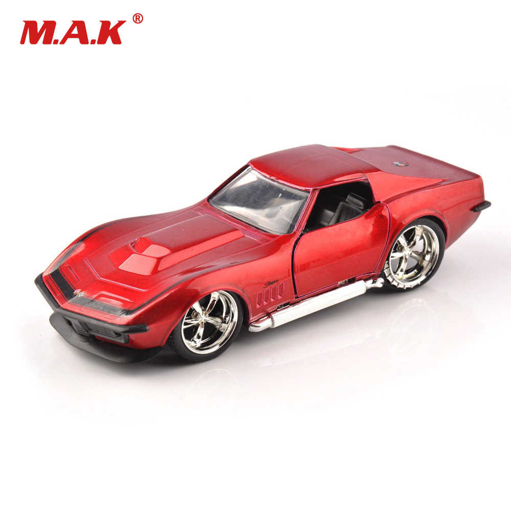For Collection JADA 1/32 Scale Red Vintage Sports Vehicles Diecast 1969 Corvette StingRay ZL-1 Vehicle Car Model Toys for Kid