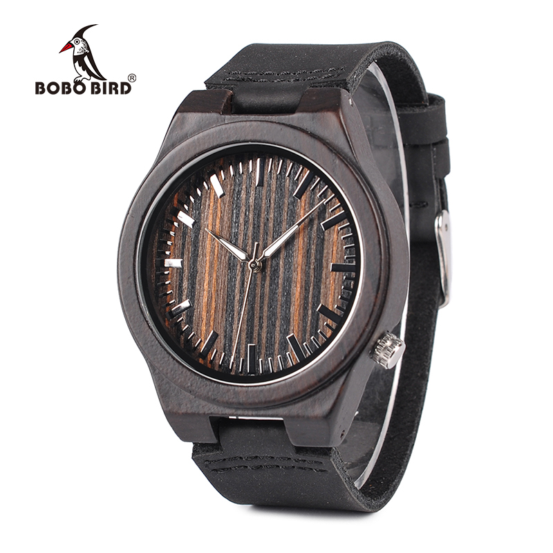 BOBO BIRD Special Discount Wood Wristwatches Men Fashion Antique Erkek Watches in Paper Gift Box bobo bird wp30 mens womens leather band antique wood watches with simple anlaogue display in gift box