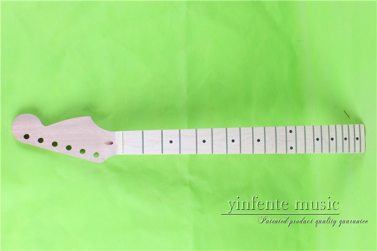 "0017# 25.5"" Electric Guitar Neck Maple Made Bolt On Maple Fingerboard Fine Quality 21 Fret Exquisite (In) Workmanship"