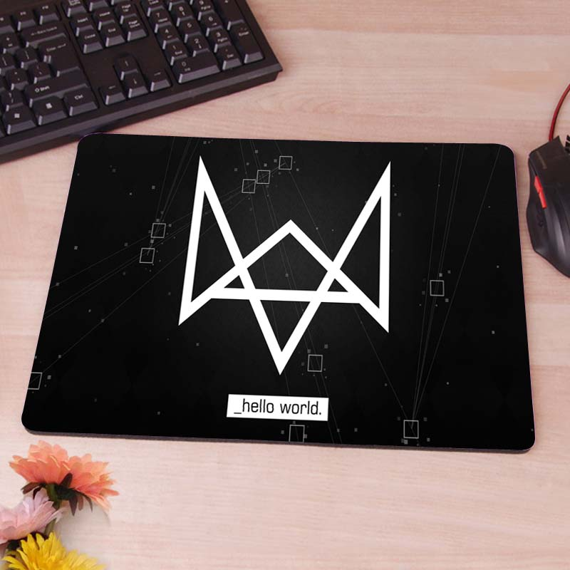 MaiYaCa Watch Dogs Hot Item Custom Diy Design Gaming Mousepad Rubber Mats