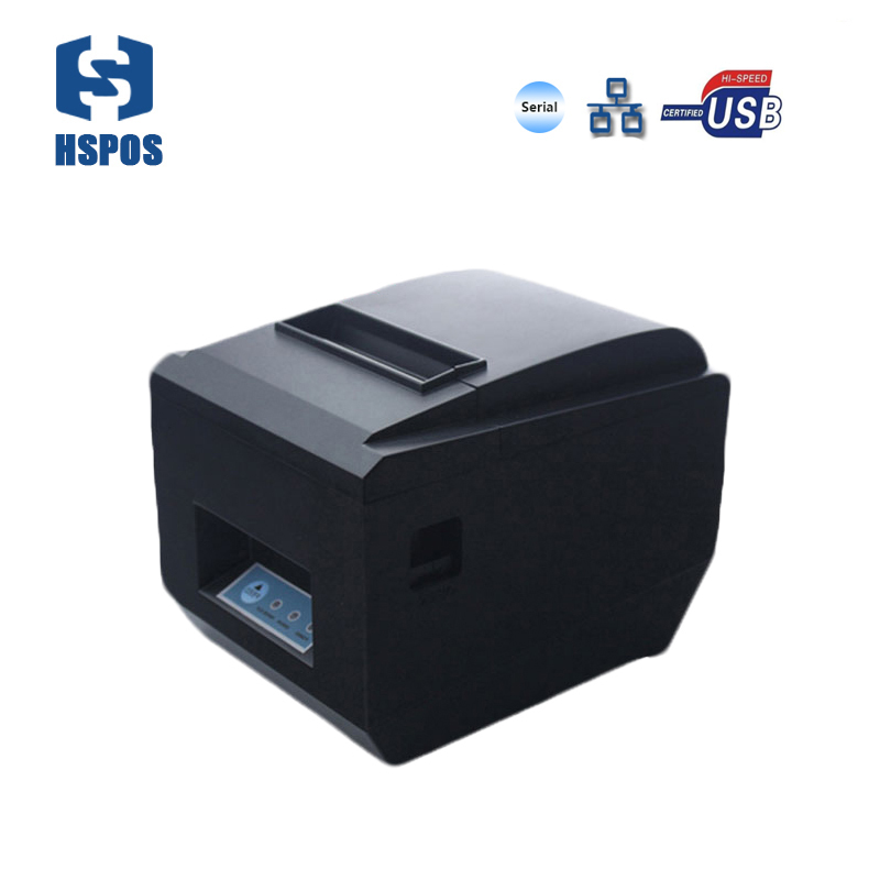 Wired 80mm receipt printer with auto cutter support multi-language and QR code printing compatible with windows10 POS printer parallel and usb interface 80mm thermal receipt printer 250mm s high speed pos printer auto cutter support logo printing