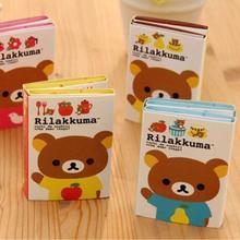 1PC/Lot  New cute Rilakkuma styles Notepad / Memo pad / Paper sticky note / sticker message post