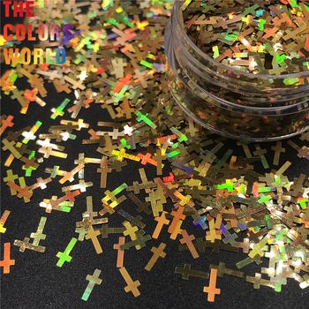 TCT-241 krzyż kształt 6MM paznokcie brokat zdobienie paznokci dekoracje paznokci żel ciała brokat makijaż Henna Handwork DIY akcesoria dekoracyjne tanie i dobre opinie Binvon 50g 120g 200g 240g 500g 600g 1 Bag Glitter Sequins Paznokci brokat Cross 12 Kinds Different Colors Plastic Bag