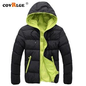 Covrlge inverno quente doudoune homme moda sólida para baixo jaqueta masculina casual zíper parka com capuz plus size canadá jaqueta mwm074