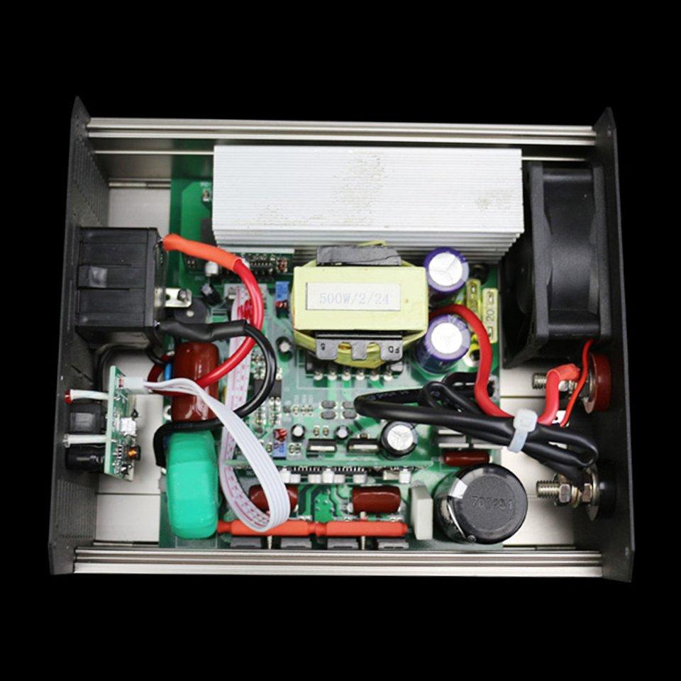 Pure Sine Wave Power Inverter Smart IC Car Inverter 500W DC12V To AC220V Aluminum Alloy Converter USB Charger Transformer plastic car dc12v 24v to ac220v power inverter with usb port black