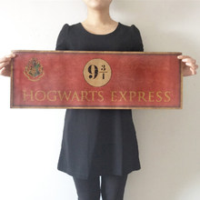 HOGWARTS EXPRESS Large Vintage Movie Poster Home Decor Detailed Antique Poster Wall Chart Paper Matte Kraft Paper Harry Potter(China)