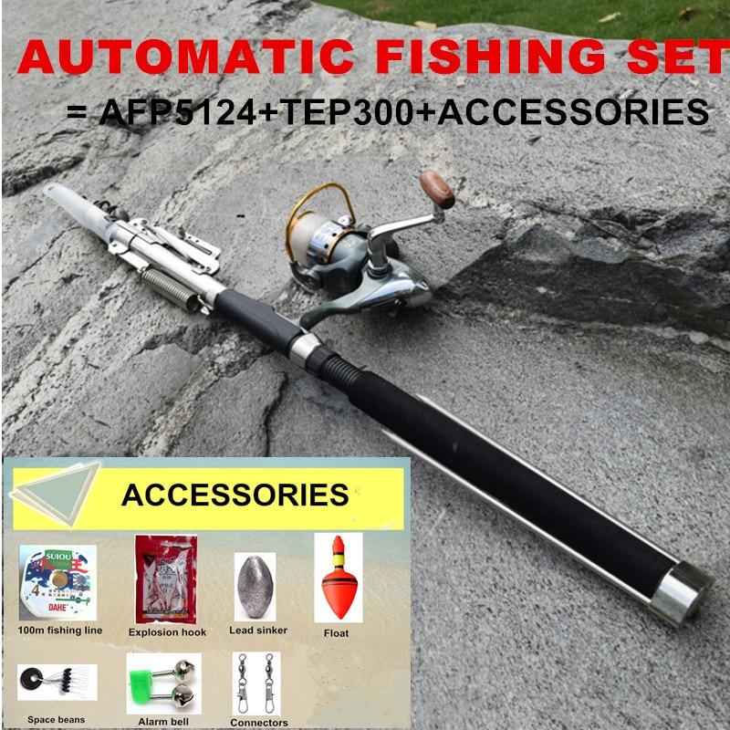 2.1 y 2.4 y 2.7 y 3.0m Conjunto de caña de pesca con mosca de giro - Pescando
