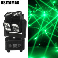 Hight quality 8pcs 12W 4in1 RGBW LED double wheel led beam 8 heads led moving head light manual for disco DJ projector machine