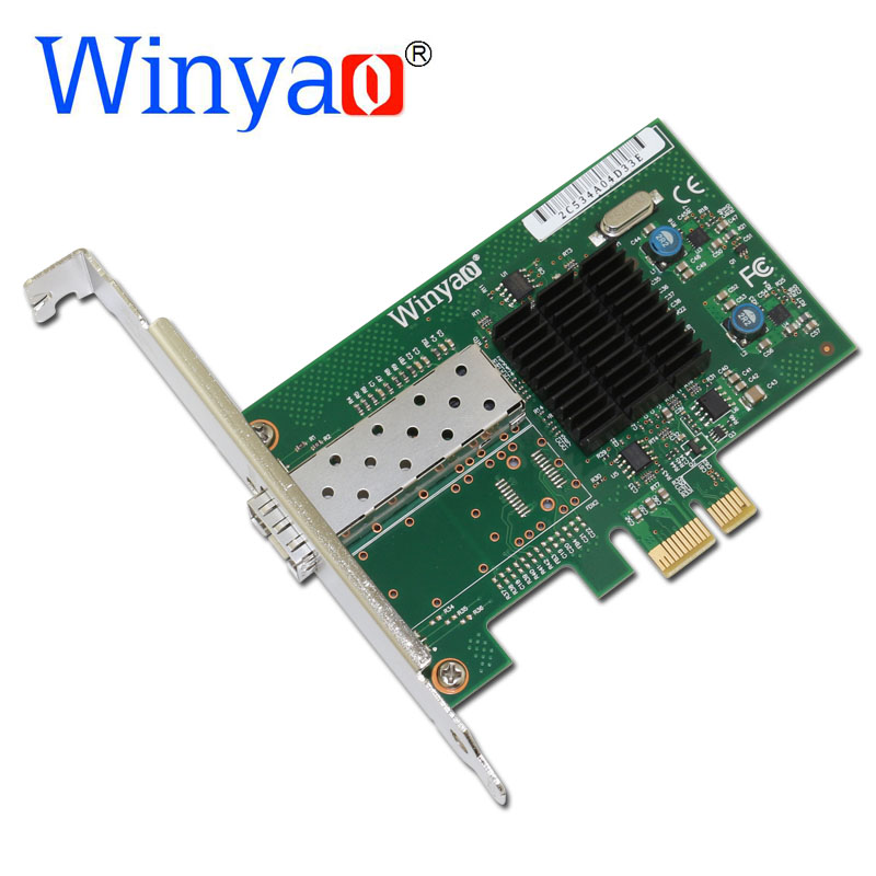 Winyao WY576F1SFP PCI-Express 2.0 x1 SFP Fiber Gigabit Ethernet Network Adapter(NIC) 82576 E1G42EF lan winyao usb1000f sx usb3 0 gigabit fiber ethernet network adapter 850nm multi mode optical transceiver module sfp nic 550m