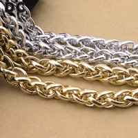 DC 1 Meter Lot Gold Silver Color Big Chunky Curb Bulk Aluminum Link Chain 15 21mm