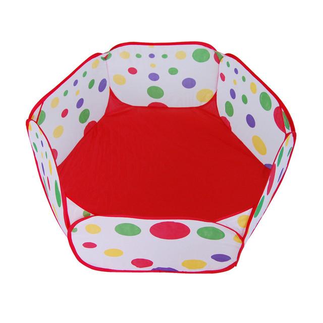 Chamsgend best seller venta caliente pop up play piscina carpa hexagonal dot niños pelota dec607 carry juguete al por mayor