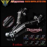 Sliver Titanium CNC Adjustable Folding Extendable Motorcycle Brake Clutch Levers For Triumph TIGER 800 XC XCX