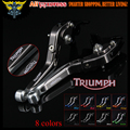 Sliver+Titanium CNC  Adjustable Folding Extendable Motorcycle Brake Clutch Levers For Triumph TIGER 800 XC/XCX/XR/XRX 2015 2016