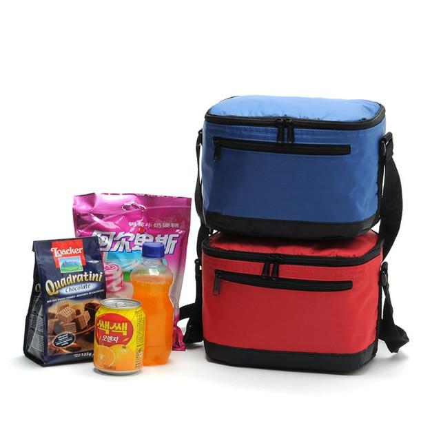 2015 Home travel  Insulation  Lunch Box  necessaries Picnic bag ice bag red blue color fashion hike handbag