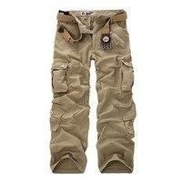 2017 Moda Erkekler Askeri Taktik Kargo Pantolon Rahat Gevşek Baggy Pamuk Cepler Mücadele Swat Ordu Erkekler Için Aktif Pantolon